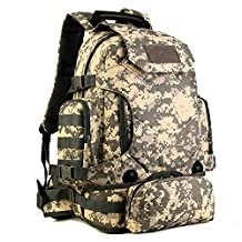 Protector Plus 40L Tactical Military Backpack MOLLE Assault 3 Way Water-resistant Hiking Daypack/Camping Backpck/Travel Daypack/Casual Backpack, ACU Camouflage