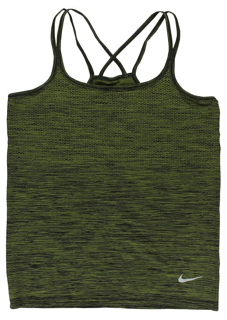 fb1d67a388229 Nike Womens Dri Fit Knit Running Tank Top Army Green L: Amazon.in ...