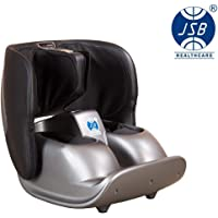 JSB Hf119 Calf and Foot Massager Machine with Compact Foldable for Leg Pain Relief(Black-Grey)