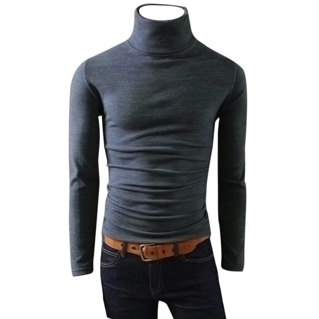 Pullover Haut Pull à Col Homme,Covermason Pulls Basique Homme Coton Sweater Col Roulé Chandails Manches Longues Casual Sweatshirt Slim Fit