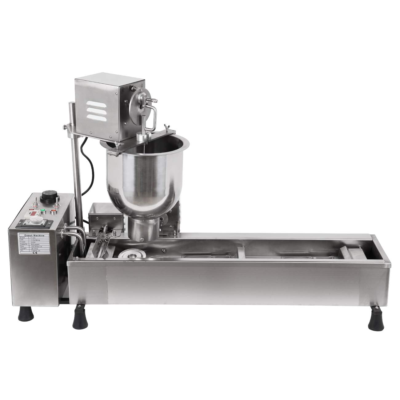 Ridgeyard Stainless Steel Commercial Donut Maker 3000 Watts Automatic Donut Maker 7L Donut Making Machine with 3 Sets Mold,Wide Oil Tank by Ridgeyard