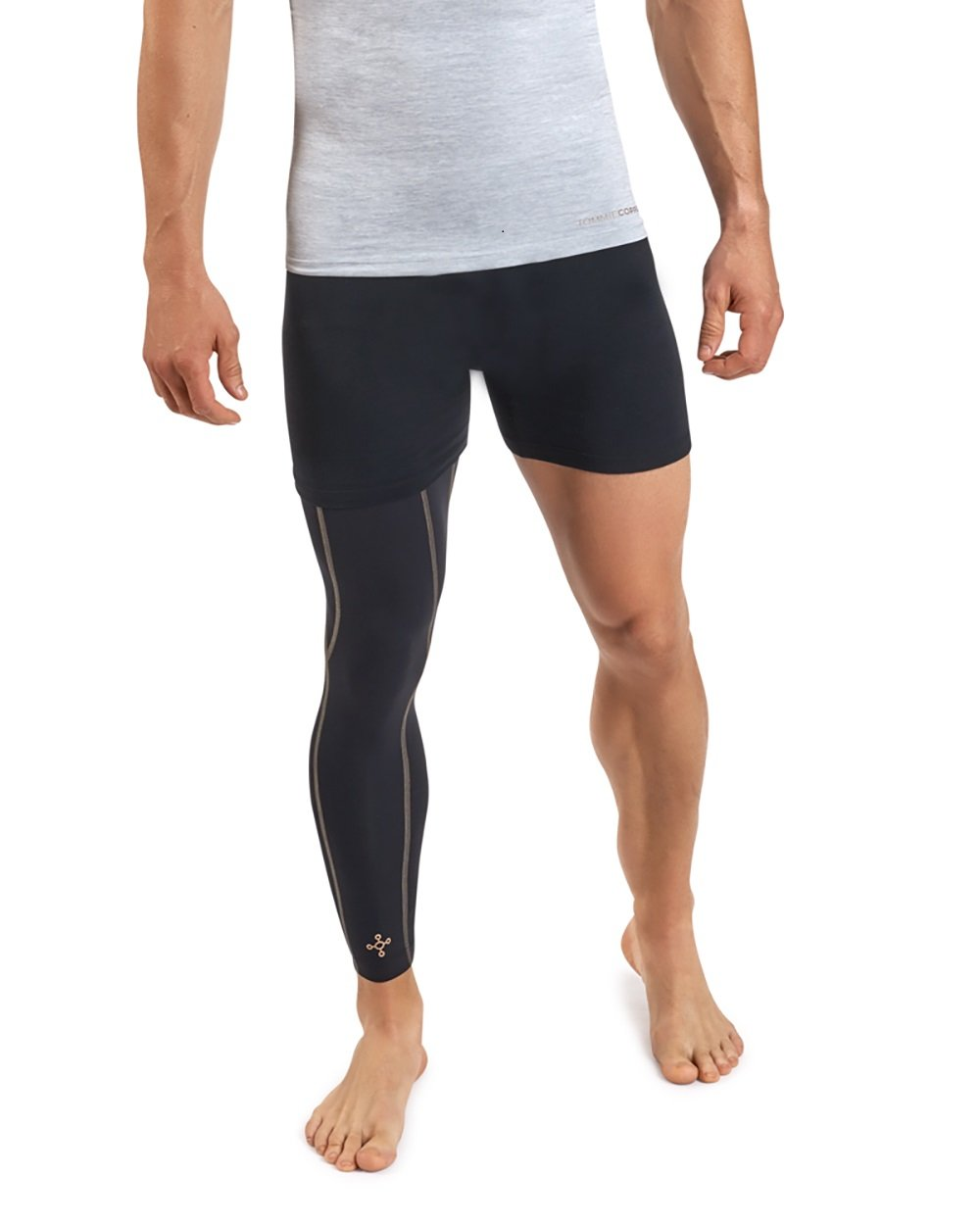 Tommie Copper Men's Performance Full Leg Sleeves 2.0, Small, Black