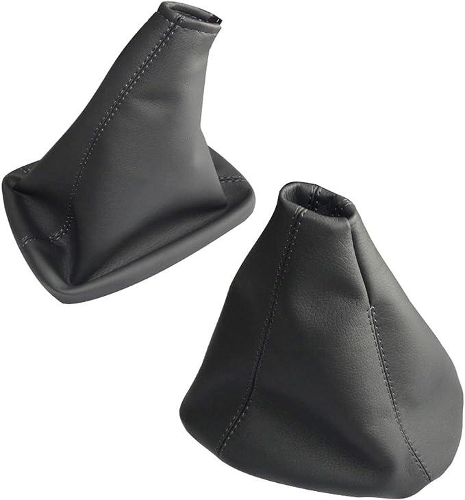 AERZETIX Dark Grey and Black Covers Gear Shift and Handbrake Lever Bellows