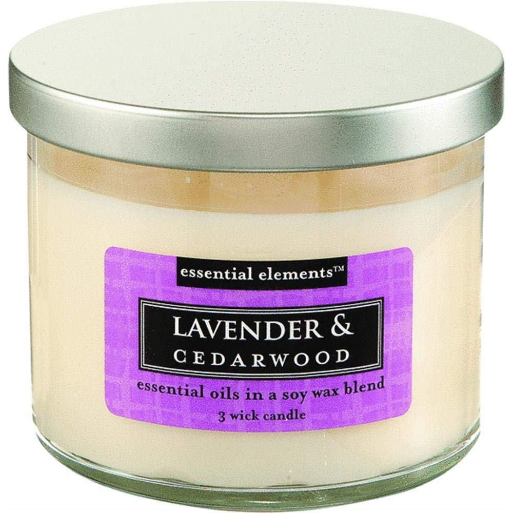 CANDLE-LITE Essential Elements 14-3/4-Ounce 3 Wick Candle with Soy Wax, Lavender and Cedarwood by CANDLE-LITE (Image #2)