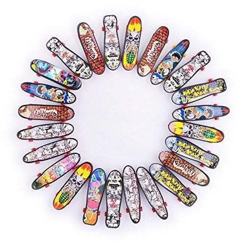 Sakiyr 24pcs Mini Finger Skateboard Unique Fingerboards Kids