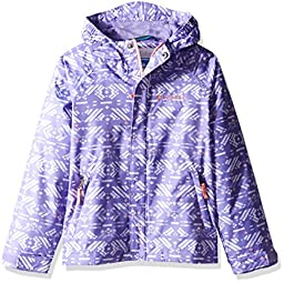 Columbia Toddler Girls\' Fast and Curious Rain Jacket, Paisley Purple Print, 2T