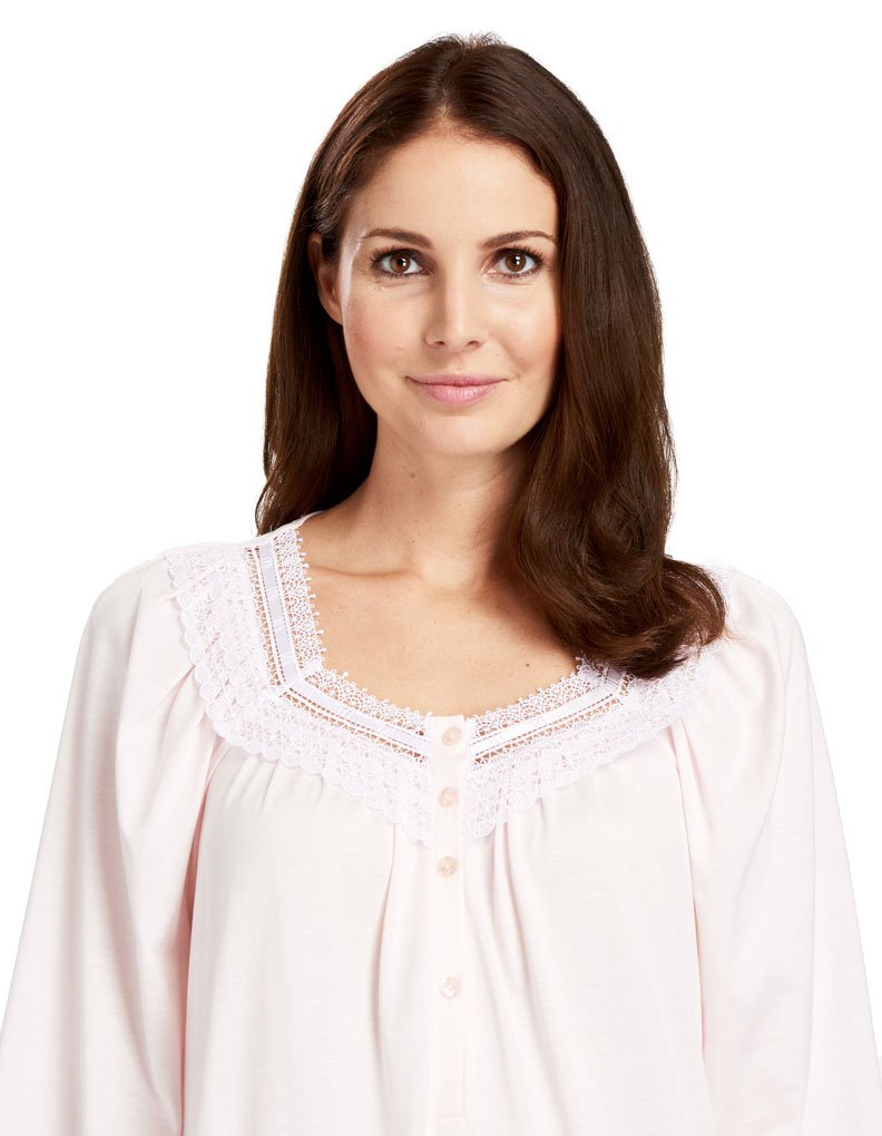 Feraud 3883039-10035 Women's Pearl Pink Cotton Night Gown Loungewear 12 by Feraud (Image #3)