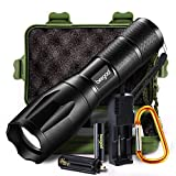 Led Flashlight, beegod Tactical Handheld Bright Led Torch Flashlights Rechargeable Kit