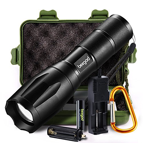 beegod Handheld Bright Led Torch Flashlights Rechargeable (Kit1) Only $8.99