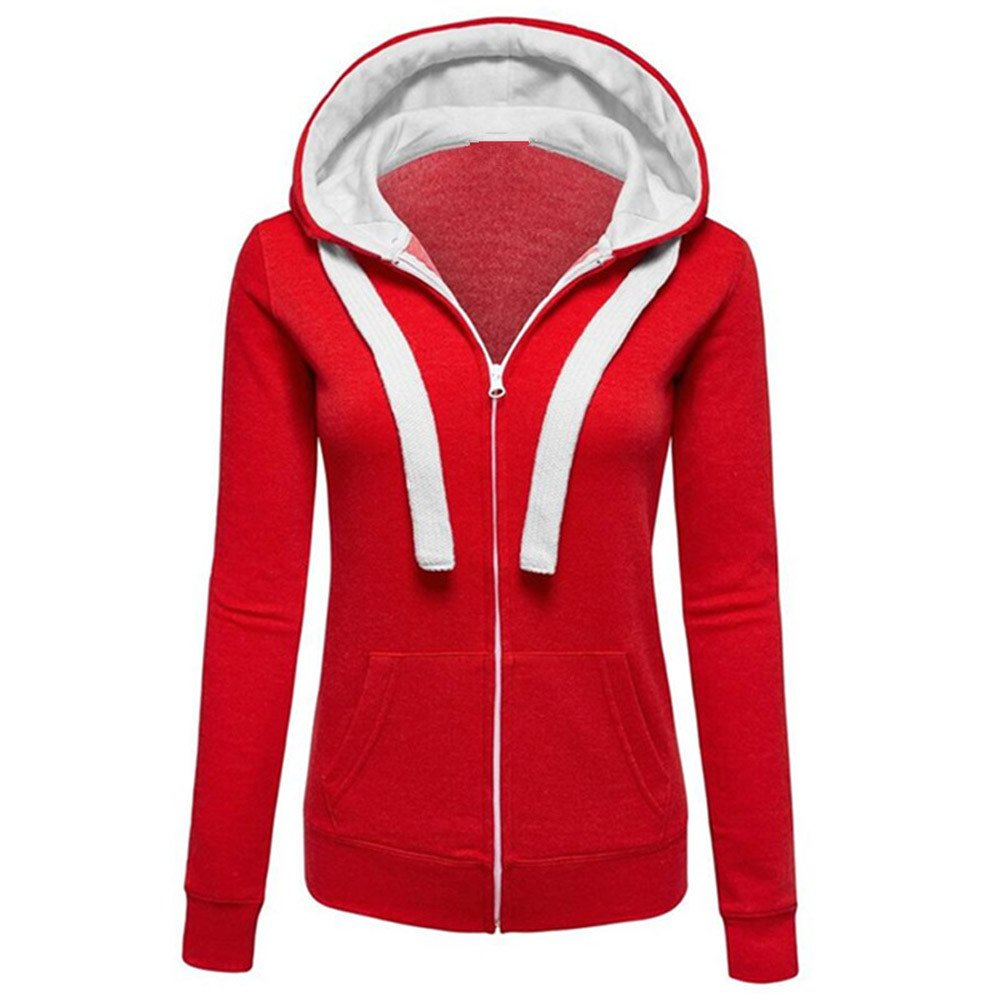 DongDong Clearance Fashion Hoodies Coat,Women's Long Sleeve Zipper Casual Cotton Winter Warm Sweatershirt Jacket with Pocket DongDong-139