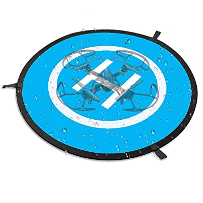 "Drone Landing Pad, MAKETHEONE 29.5""/75cm Large Universal Launch Pad, Fast-fold Portable Quadcopter Landing Mat Double Sided Protective Helipad for RC Drones Helicopter UVAs: Toys & Games"
