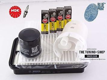Premium Kit de servicio 1.8 16 V VT-i 143hp 99 - 06 Aire Cabina filtros de aceite y bujías nuevo: Amazon.es: Coche y moto