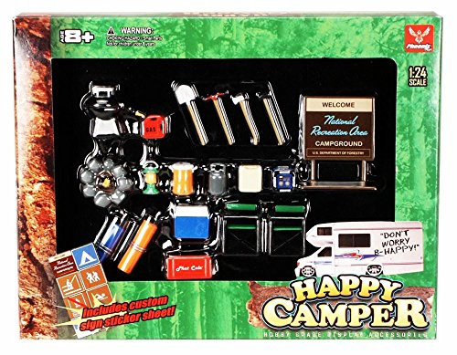 Happy Camper - Phoenix Garage Diorama Accessory Set 18430 - 1/24 scale diecast car diorama - Model Accessories Camping