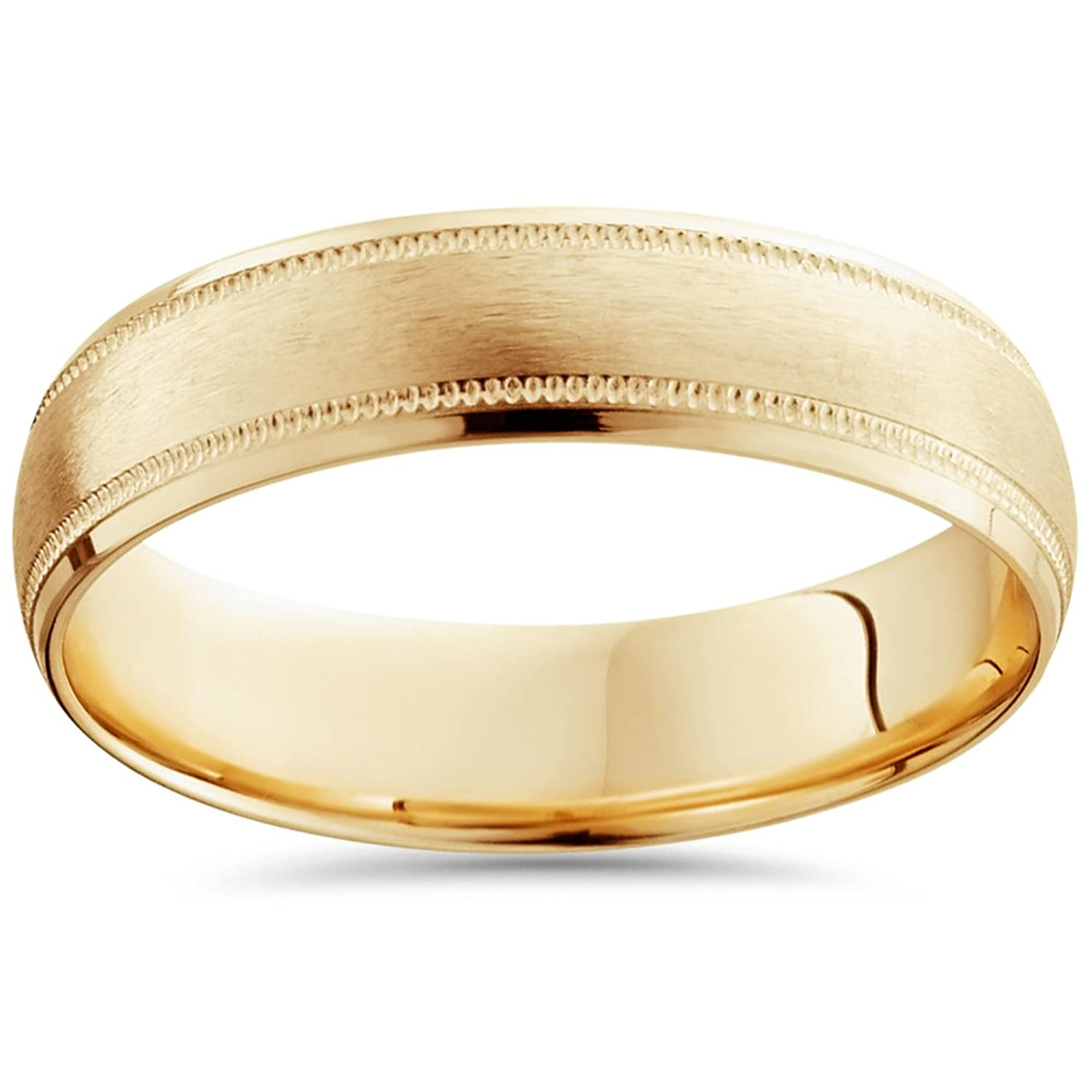 gold half yellow products dome edited wedding ring classic band bands