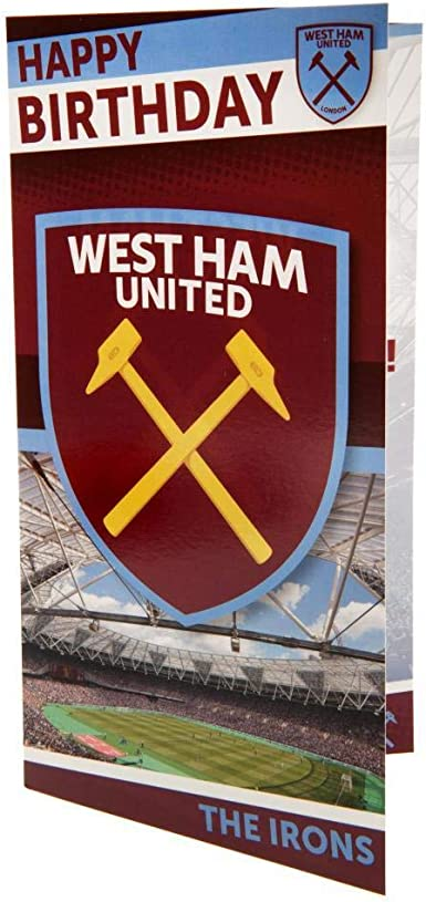 Personalised Greetings Card West Ham United F.C CREST