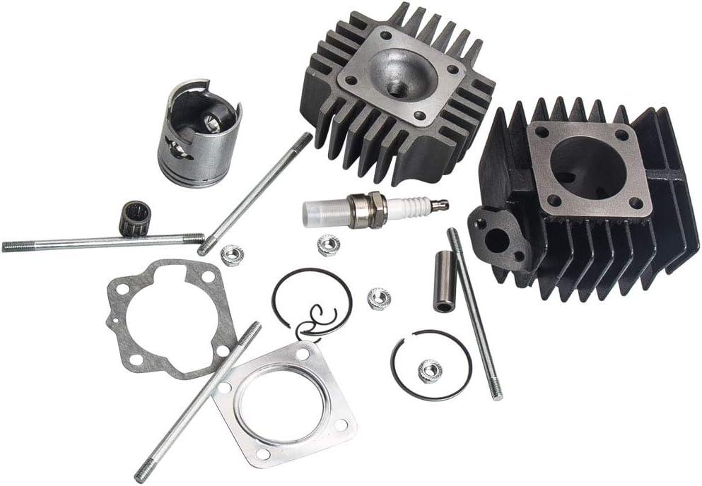 maXpeedingrods Cylinder Piston Head Kits for Suzuki LT A50 2002-2005,LT50 1984-1987,JR50 1978-2006 11210-04012-0F0