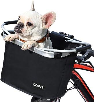 COFIT Canasta de Bicicleta Plegable, Canasta de Manillar de Bicicleta Multiusos Extraíble para Porta Mascotas, Bolsa de Compras, Bolsa de Viaje, Camping al Aire Libre Básico Negro: Amazon.es: Deportes y aire libre