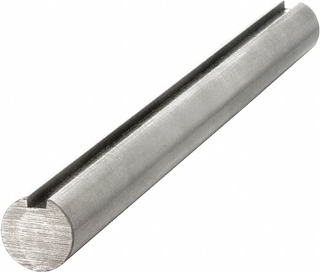 Carbon Steel Grade 1045 Keyed Shaft,3//4 Diameter,3//16 x 3//32 Keyway,48 Length