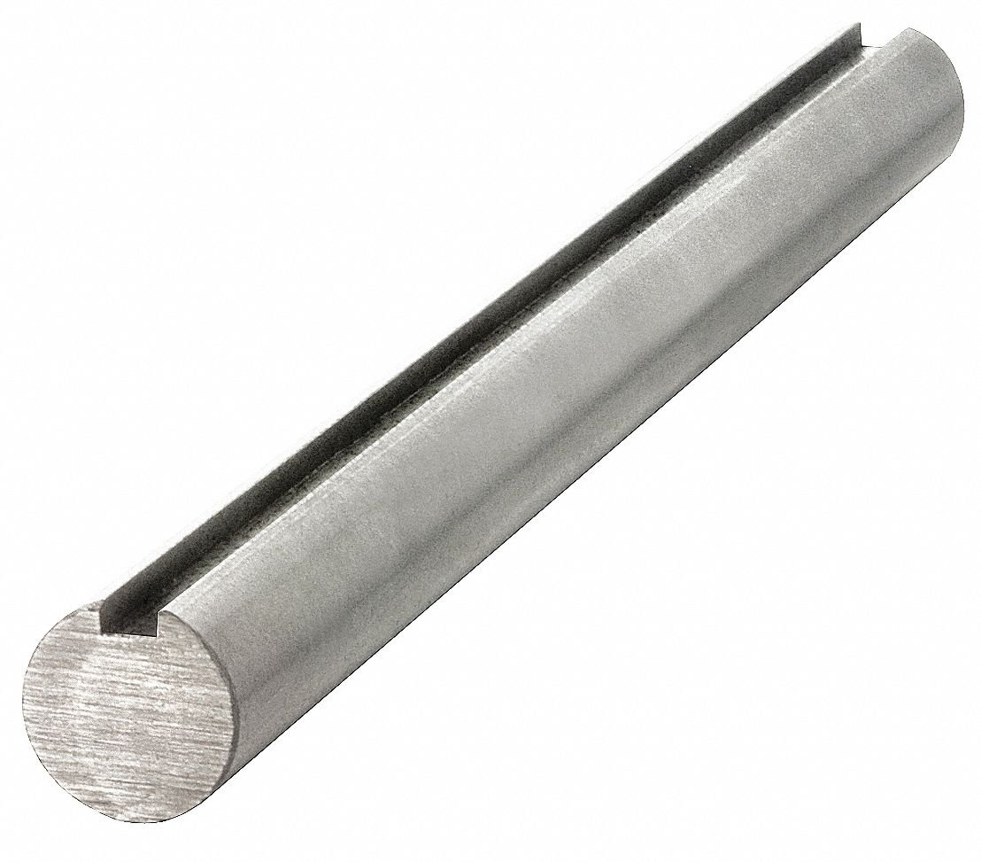 Carbon Steel Grade 1045 Keyed Shaft,50mm Diameter,14mm x 5.5mm Keyway,1500mm Length