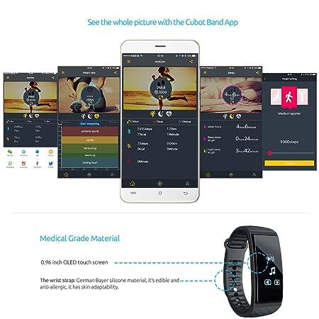 Cubot S1 Pulsera Actividad Frecuencia Cardíaca Bluetooth IP65 ...