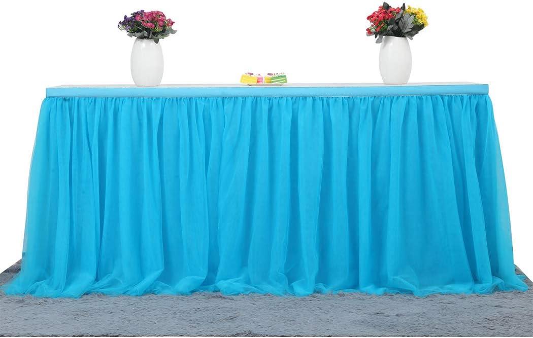 Funpa Falda De Mesa Table Cover Pa/ño De Tul Tutu Mantel Table Z/ócalo para Navidad Fiesta de a/ño Fiesta de Bodas Baby Shower Fiesta de cumplea/ños Pastel de Mesa Princesa Party Decor