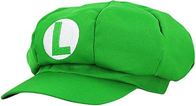 thematys® Super Mario Gorra Luigi - Disfraz de Adulto y Niños ...