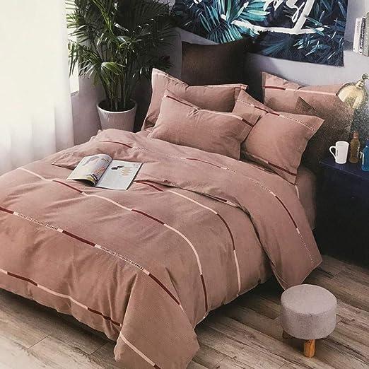 zlzty Sábana Gruesa de algodón Grueso de Cuatro Piezas, sábana ...