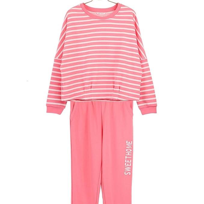 Caída de la ropa interior/Corea del ocio pijama de rayas/ capa pantalones pijamas/ vistiendo pijamas: Amazon.es: Ropa y accesorios
