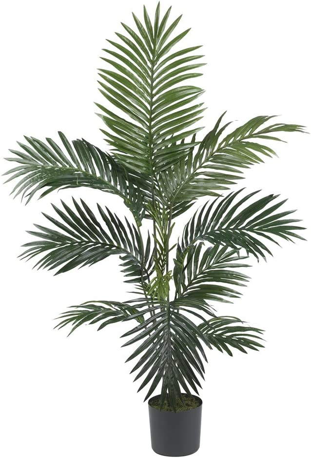 Amazon Com Nearly Natural 5295 4ft Kentia Palm Silk Tree Green Home Kitchen