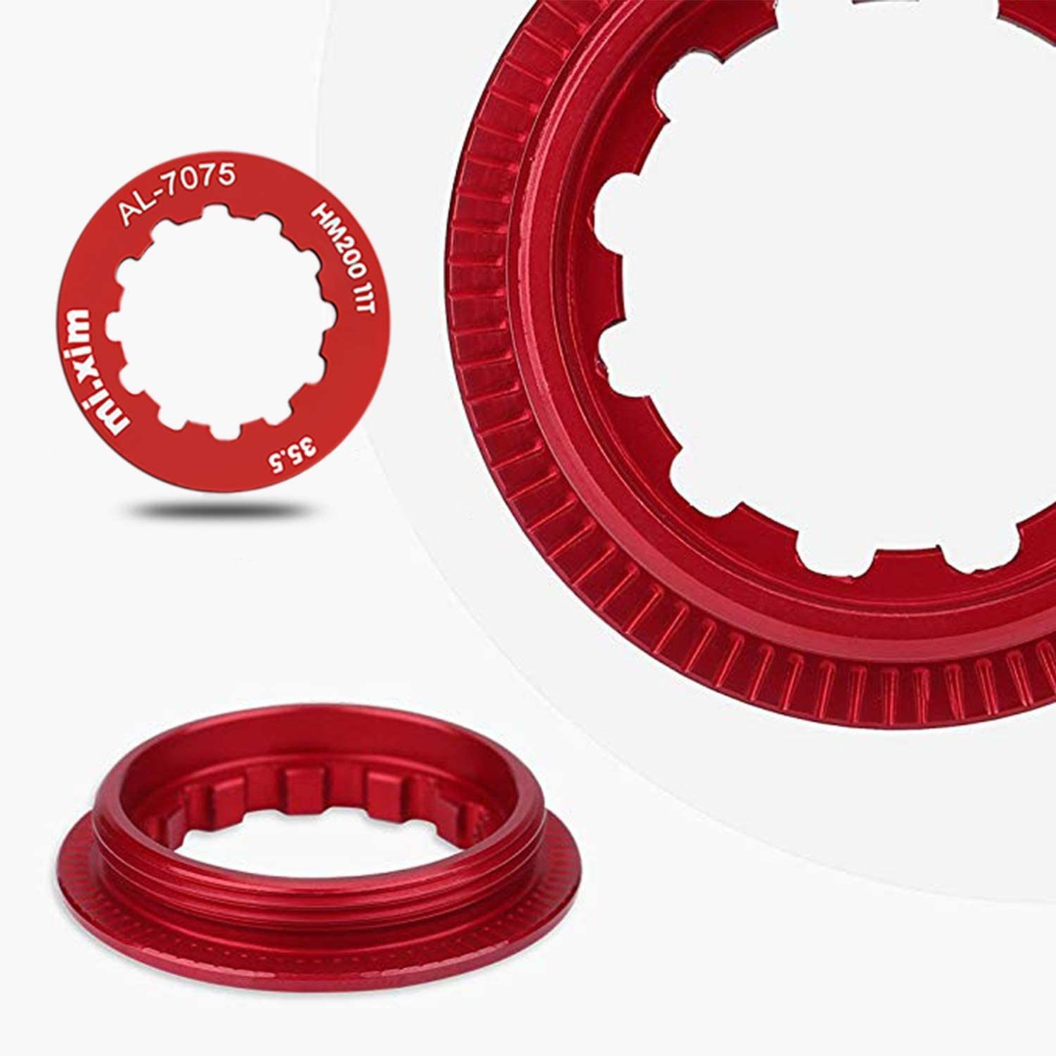 Parts /& Components Cassette Lockring For 7-11 Speed Mountain Bike Red
