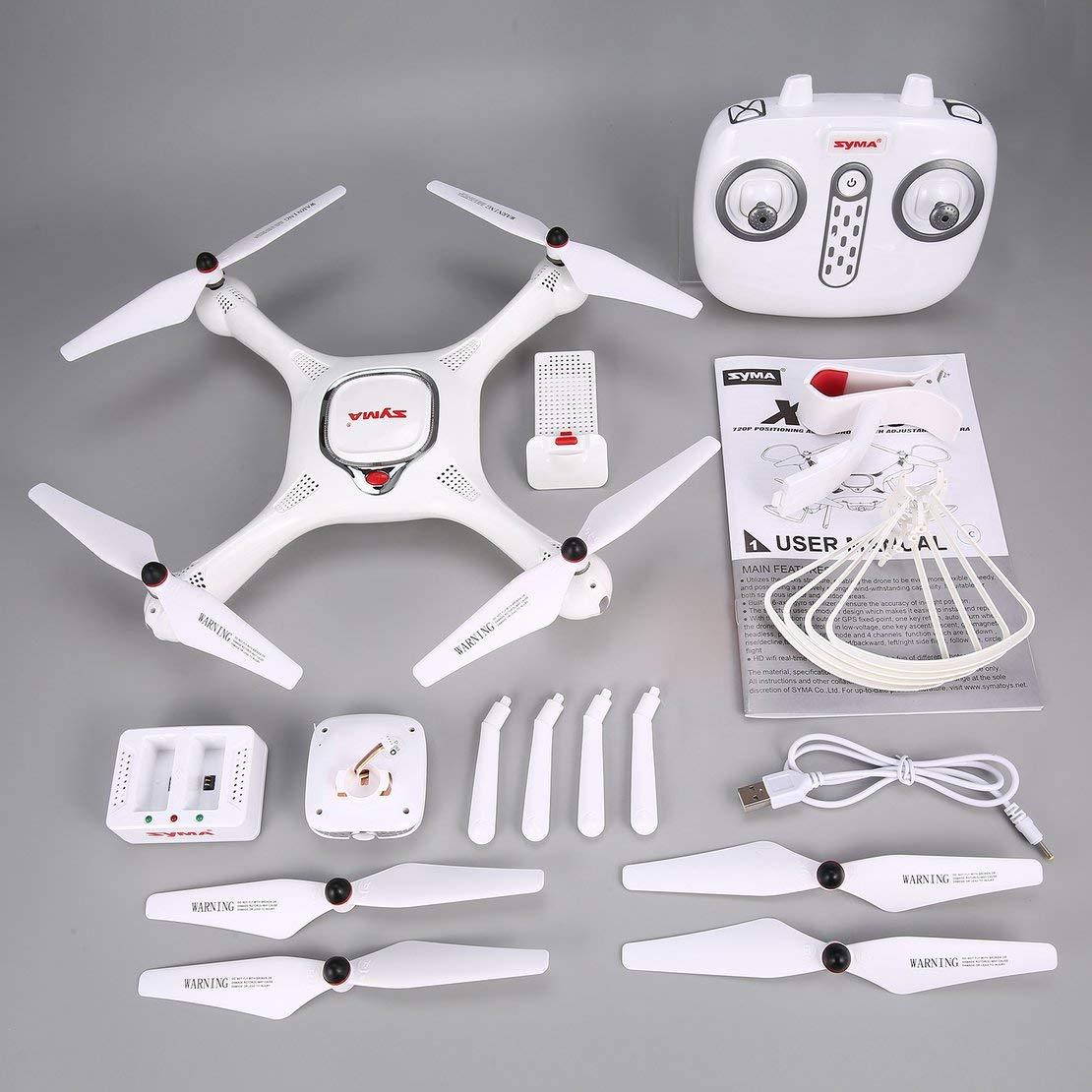 Sanzhileg Syma X25PRO 2.4G GPS Positionierung FPV RC Drohne Quadcopter mit 720P HD WiFi Einstellbare Kamera Höhe Halten Follow Me Geschenk