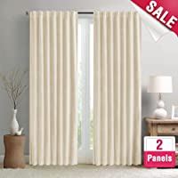 triple window curtains side by side blackout curtains for living room darkening triple weave window curtain panels bedroom drapes thermal insulated amazon best sellers kids