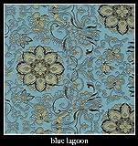 "Candi Andi - 6"" Heart Sachet Pillow - Satin Brocade - Lavender Scented - Blue Lagoon - SH6-BL"