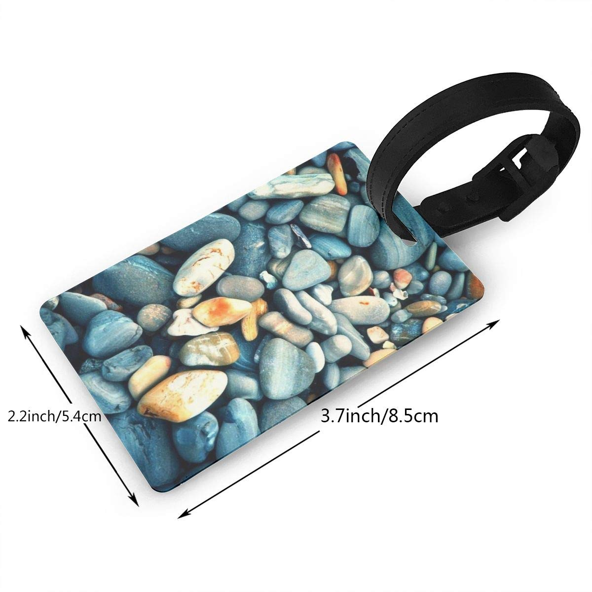 Cobblestone Baggage Tag For Travel Bag Suitcase Accessories 2 Pack Luggage Tags
