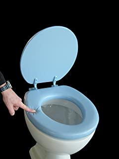 17 inch toilet seat. adob soft toilet seat padded, light blue, 43076 17 inch e