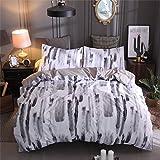 A Nice Night Watercolor Duvet Cover Set Multicolored Hand Decorative 3 Piece Bedding Set 2 Pillow Shams, Multicolor (Simple A, Queen)