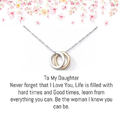 8272de60b02 Amazon.com: OnePurposeGifts to My Daughter Gifts Daughter Birthday Gifts  Sweet 16 Gifts Graduation Gift Gifts for her (Gold/Silver): Home & Kitchen