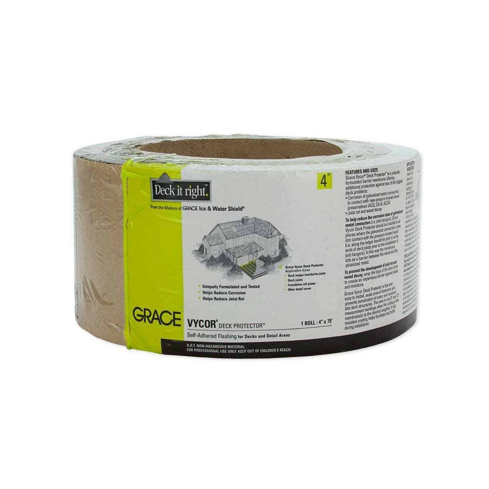 Grace Vycor Deck Protector Self Adhered Flashing 4 x 75\' Roll