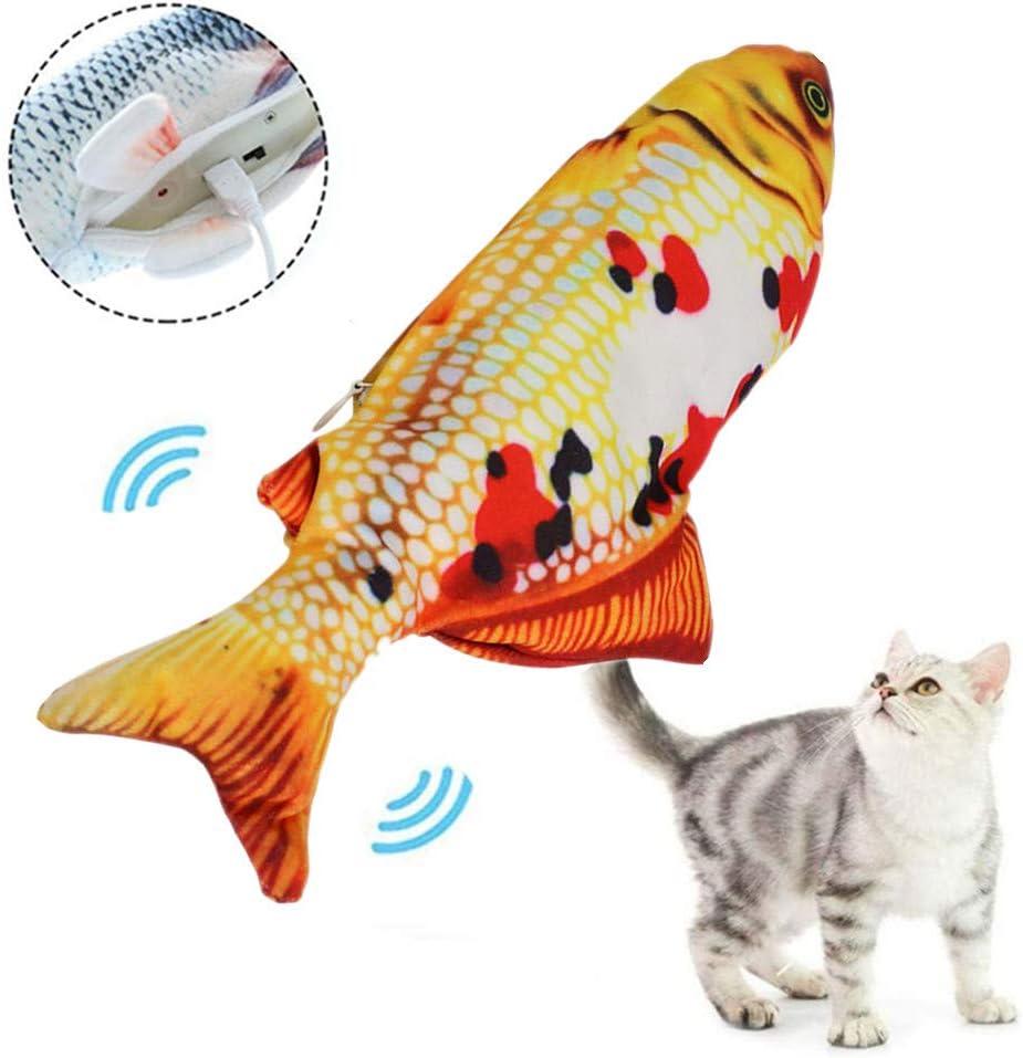 Plus Po Fidget Fish For Cats Magic Fish Cat Toy For Indoor Cats Interactive Cat Christmas Presents Cat Toy Interactive Goldenki Amazon De Küche Haushalt