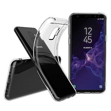 Elekin Funda Samsung Galaxy S9 Plus, Transparente Silicona ...