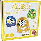 Brinquedo Pedagógico Madeira Silabas 48 Peças Brincadeira de Criança