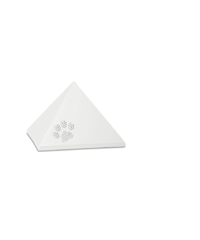 Völsing Tierurne Edition Pyramide mit Pfoten aus Swarowskisteinen