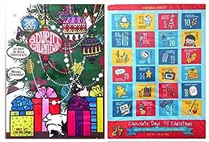 Trader Joes 2017 Milk Chocolate Christmas Advent Calendar (Pack of 2 Assorted Designs)