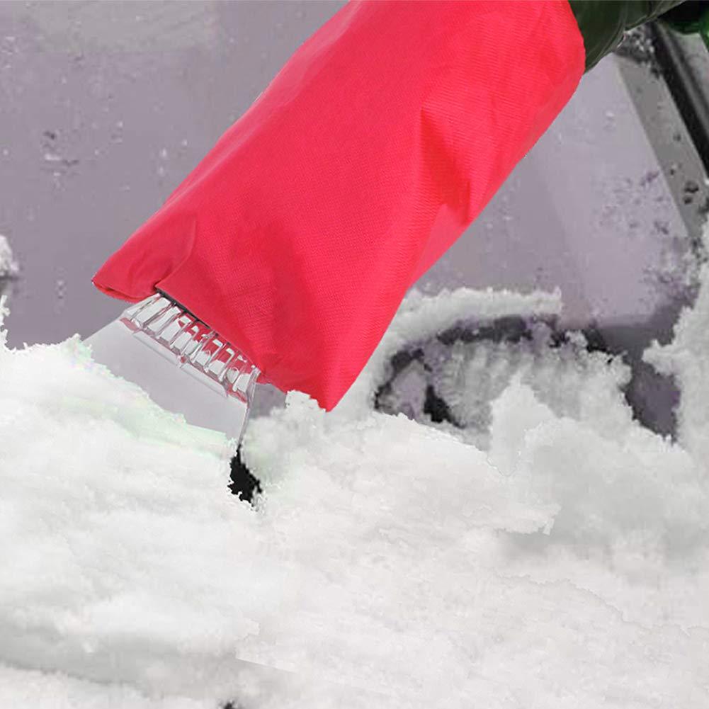 Neve Remover Guanto Foderato di Spessore in Pile QLF younker Raschietto per Ghiaccio con Guanto Raschietto per Parabrezza Parabrezza Neve Raschietto con Impermeabile