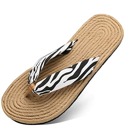e5ed4c596 Flip Flops WYQLZ Creative Women s Bohemian Style Summer Non-slip Outdoor  Beach Casual Sandals Clip