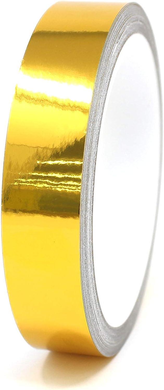 Zierstreifen Auto Motorrad Boot Modellbau Farbauswahl 1,79/€//Meter Finest Folia Dekorstreifen Seitenstreifen Klebestreifen 10 Meter Chrom Gold, 40mm Breite