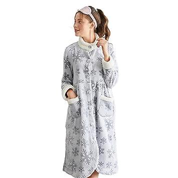 【パジャマ】【授乳しやすい】ハイネックマイクロファイバーガウンパジャマ【ホームウェア