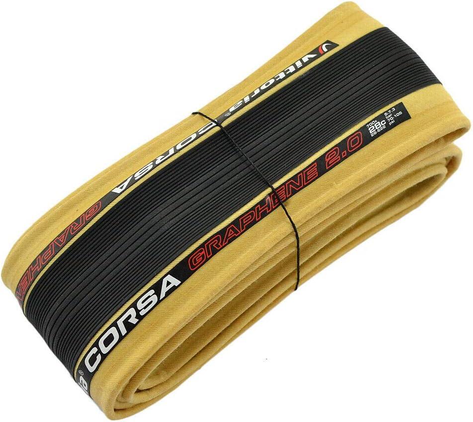 VT1973 Vittoria Corsa G2.0 Graphene Clincher Tire 700x28C Skinwall and Black