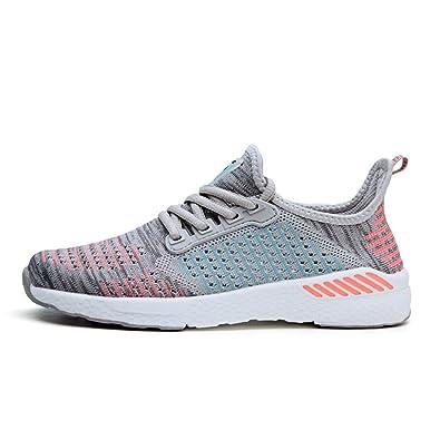 7ececc444b89 Qianliuk Damen Running Schuhe Sommer Outdoor Sport Sportlich Sneakers  Frauen Walking Mesh Flywire Lace up Shoe