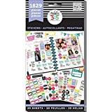 me & my BIG ideas PPSV-01 Create 365 The Happy Planner Sticker Value Pack, Planner Basics, 1829 Stickers